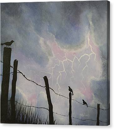 The Birds - Watching The Show Canvas Print