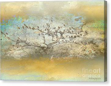 Canvas Print featuring the photograph The Birdy Tree by Chris Armytage