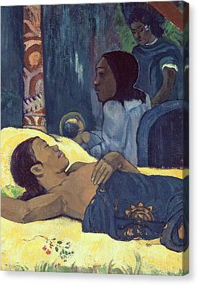 The Birth Of Christ Canvas Print by Paul Gauguin