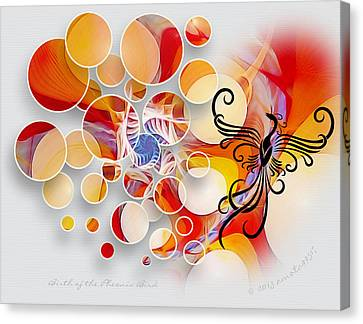 The Birth Of The Phoenix Bird Canvas Print by Gayle Odsather