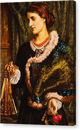 The Birthday Canvas Print by William Holman Hunt