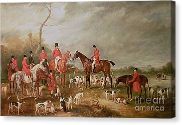 Chat Canvas Print - The Birton Hunt by John E Ferneley