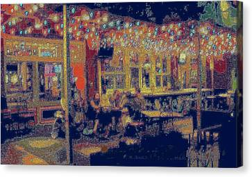 The Bistro Patio Canvas Print by ARTography by Pamela Smale Williams