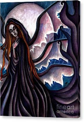 The Black Belladonna Canvas Print by Coriander  Shea