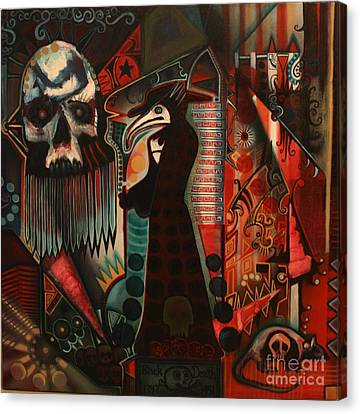 The Black Death Canvas Print by Michael Kulick
