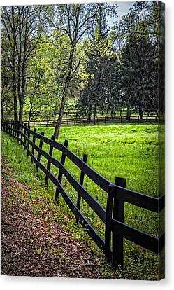The Black Fence Canvas Print