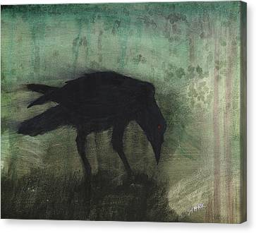 The Black Flag Of Himself Canvas Print by Jim Stark