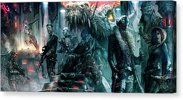 The Black Hole Gang Canvas Print by Ryan Barger