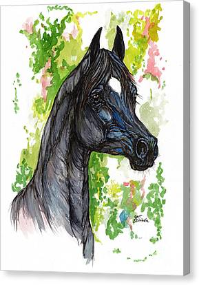 The Black Horse 1 Canvas Print by Angel  Tarantella