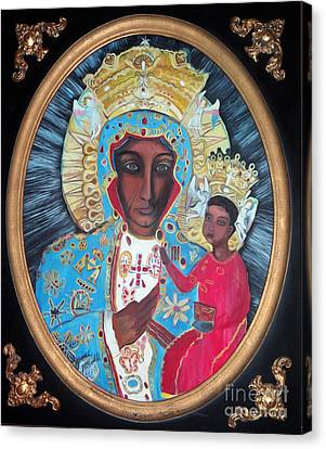 The Black Madonna Canvas Print by Ecinja Art Works