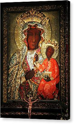 The Black Madonna Canvas Print by Mariola Bitner