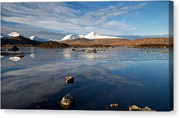 Canvas Print featuring the photograph The Black Mount by Stephen Taylor
