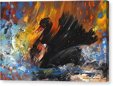 The Black Swan Canvas Print by Miki De Goodaboom