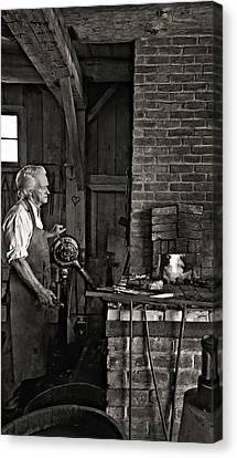 The Blacksmith 2 Monochrome Canvas Print by Steve Harrington