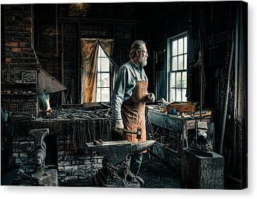 The Blacksmith - Smith Canvas Print by Gary Heller