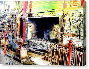 The Blacksmiths Forge. Canvas Print by Trevor Kersley