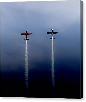 Canvas Print featuring the photograph The Blades Going Up Sunderland Air Show 2014 by Scott Lyons