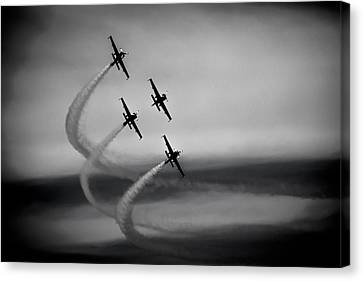 The Blades In Formation Sunderland Air Show 2014 Canvas Print