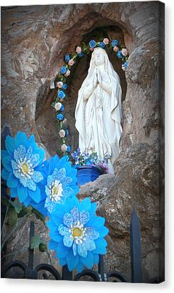 The Blessed Virgin At Mission San Xavier Del Bac Canvas Print by Karyn Robinson
