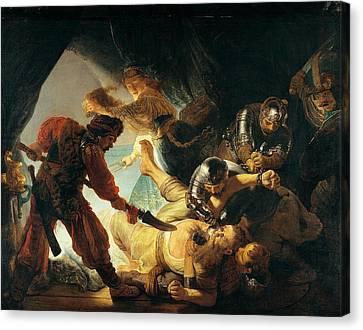 The Blinding Of Samson Canvas Print by Rembrandt van Rijn