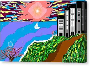 The Bliss Resort Canvas Print by Lewanda Laboy