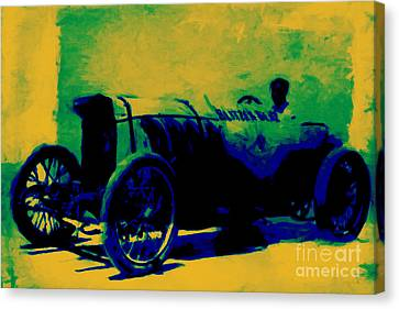 The Blitzen Benz Racer - 20130208 Canvas Print by Wingsdomain Art and Photography