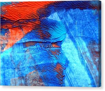 The Blue And Red Affair Acryl Knights Canvas Print by Sir Josef - Social Critic -  Maha Art