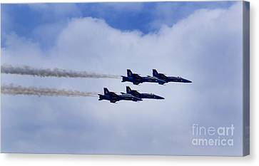 The Blue Angels Canvas Print by Benjamin Reed