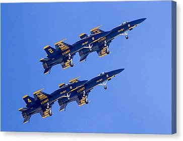The Blue Angels In Action 3 Canvas Print