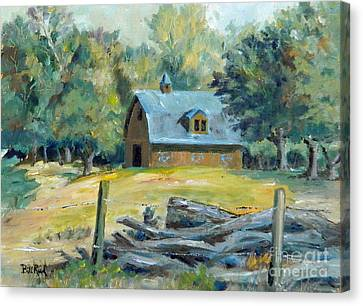The Blue Barn Canvas Print