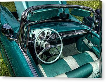 The Blue Chevy Canvas Print by Linda Unger