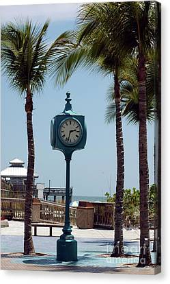 The Blue Clock Canvas Print by Kathleen Struckle