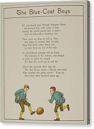 The Blue-coat Boys Canvas Print