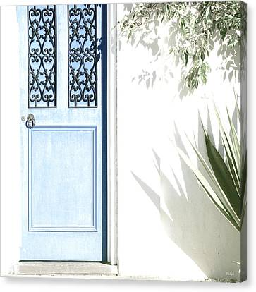 The Blue Door Canvas Print by Holly Kempe