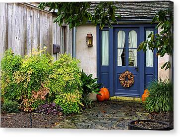 The Blue Door Canvas Print by Linda Phelps
