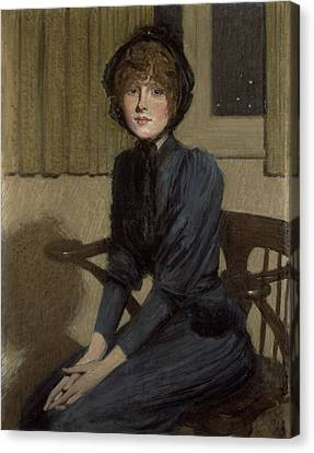 The Blue Dress, 1892 Canvas Print