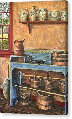 The Blue Dry Sink Canvas Print by Dave Hasler