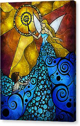 Puppets Canvas Print - The Blue Fairy by Mandie Manzano