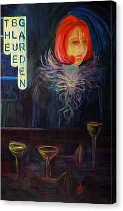 The Blue Garden Canvas Print by Carolyn LeGrand