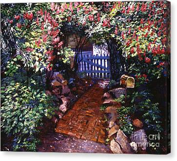 The Blue Garden Gate Canvas Print by David Lloyd Glover