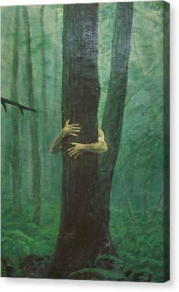 The Blue-green Forest Detail Canvas Print by Derek Van Derven