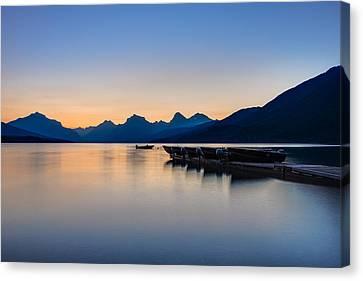 West Glacier Canvas Print - The Blue Hour by Adam Mateo Fierro