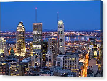 The Blue Hour Canvas Print by Mircea Costina Photography