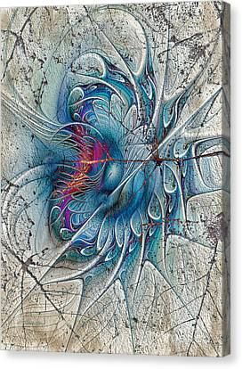 Generative Art Canvas Print - The Blue Mirage by Deborah Benoit