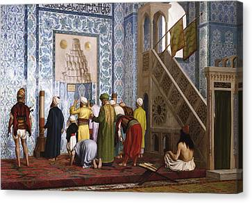 The Blue Mosque Canvas Print by Jean Leon Gerome