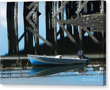 The Blue Skiff Canvas Print