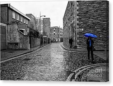 The Blue Umbrella - Sc Canvas Print