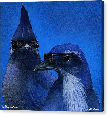The Blues Brothers... Canvas Print by Will Bullas