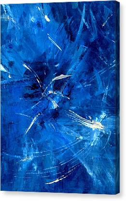 Canvas Print featuring the painting The Blues by Carolyn Repka