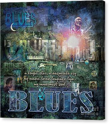 The Blues Canvas Print by Evie Cook